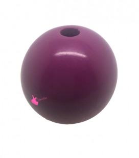 Perla Tonda Resina 25 mm (foro 5,5 mm) Ciclamino