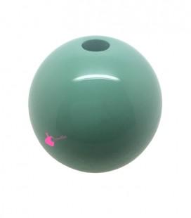 Perla Tonda Resina 25 mm (foro 5,5 mm) Verde Giada
