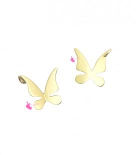 Ciondolo Farfalla 10x10 mm Oro Opaco