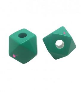 Perla Sfaccettata Resina 20x19 mm Verde