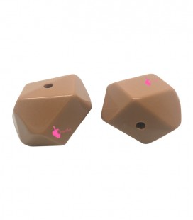 Perla Sfaccettata Resina 18x25 mm Avana