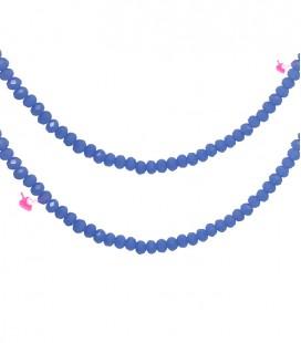 Filo Rondelle 4 mm Mezzo Cristallo Sapphire Opal
