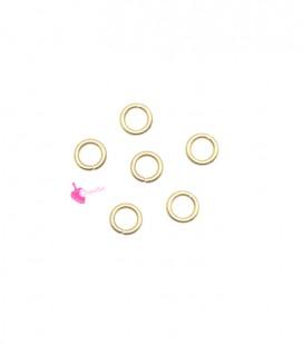 Anellini Apribili 3,3x0,4 mm Acciaio Inox colore Oro Chiaro (50 pezzi)