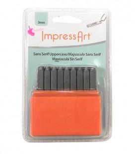Set Lettere Alfabeto per Incisioni Metal Stamps Sans Serif 3 mm Maiuscolo ImpressArt®