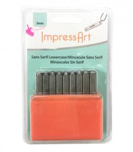 Set Lettere Alfabeto per Incisioni Metal Stamps Sans Serif 3 mm Minuscolo ImpressArt®