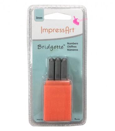 Set Numeri per Incisioni Metal Stamps Bridgette 3 mm ImpressArt®