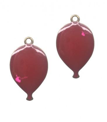 Ciondolo Palloncino Rosso Smaltato 10x17 mm