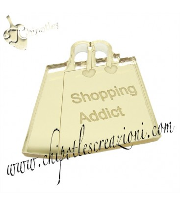 "Ciondolo Borsa ""Shopping Addict"" 30x31 mm"