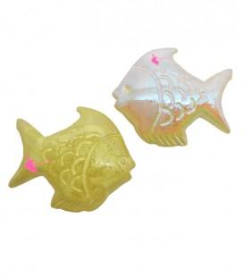 Perle Pesce Resina 30x26 mm Giallo Perlato