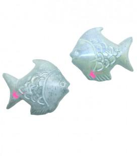 Perle Pesce Resina 30x26 mm Turchese Perlato