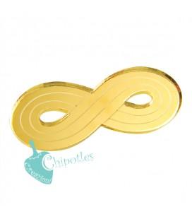 Ciondolo Infinito 40x16 mm Plexiglass Specchiato color Oro