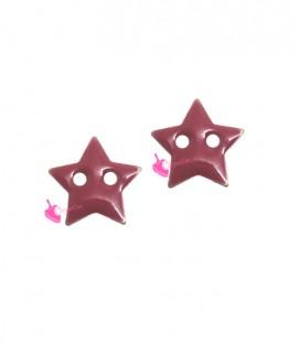 Ciondolo Passante Stella Smaltata 10 mm Rosa