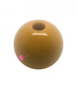 Perla Tonda Resina 25 mm (foro 5,5 mm) Senape