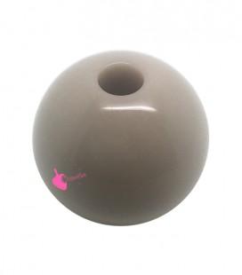 Perla Tonda Resina 25 mm (foro 5,5 mm) Beige Chiaro