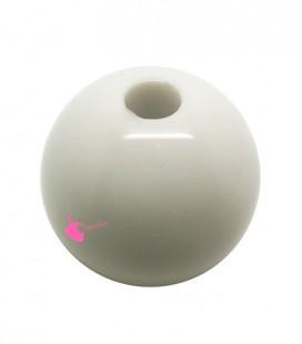 Perla Tonda Resina 25 mm (foro 5,5 mm) Bianco Latte