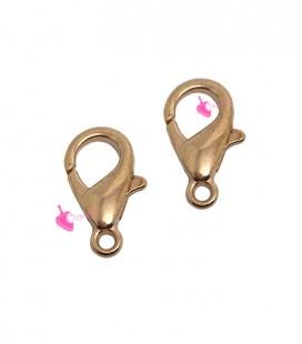 Moschettone 15 mm colore Oro Rosa (10 pezzi)