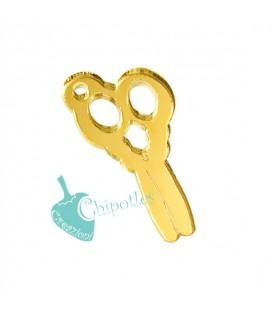 Ciondolo Forbici 30x16 mm Plexiglass Specchiato color Oro