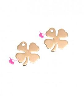 Ciondolo Quadrifoglio Portafortuna 9 mm colore Oro Rosa
