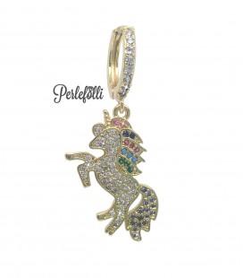 Cerchietto Unicorno con Zirconi colore Oro