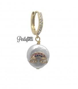 Cerchietto Arcobaleno Zirconi con Perla d'Acqua Dolce