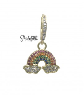 Cerchietto Arcobaleno con Zirconi Multicolor