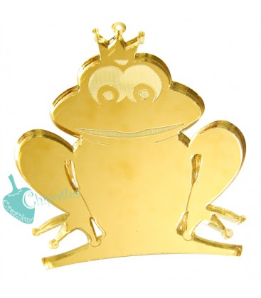 Ciondolo Principe Ranocchio 56x48 mm Plexiglass Specchiato color Oro
