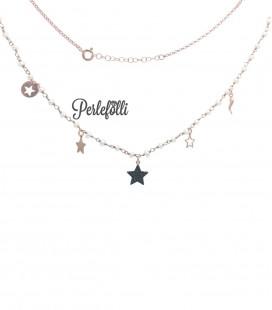 Collana Stelle Argento 925 Rosé