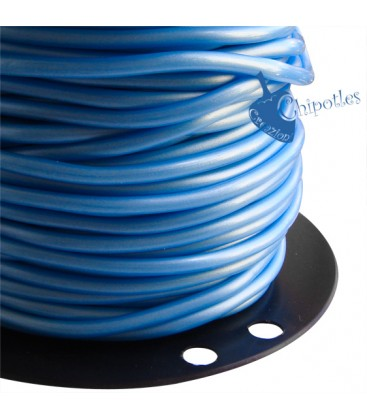 Cordoncino PVC 4 mm Forato colore Azzurro Chiaro Metallizzato