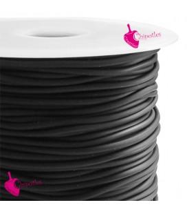 Cordoncino PVC Forato 2 mm colore Nero (10 metri - 100 metri)