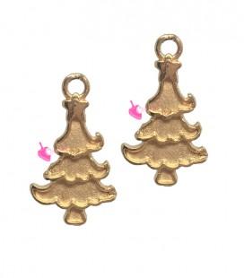 Ciondolo Albero di Natale 19x11 mm colore Oro