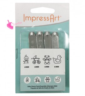 Set Baby Pack per Incisioni Metal Stamps 6 mm ImpressArt®