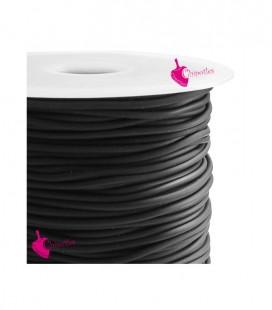 Cordoncino PVC Forato 3 mm colore Nero (50 metri)