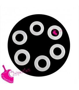 Anellino Silicone Blocca Perla 8 (foro 4) mm