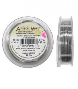 """Filo Acciaio Inossidabile Artistic Wire .017"""" (0,40 mm) 27,43 metri"""