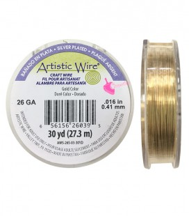 """Filo Rame Oro Artistic Wire .016"""" (0,41 mm) 27,3 metri"""