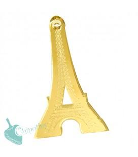 Ciondolo Torre Eiffel 50x25 mm Plexiglass Specchiato color Oro