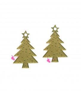 Ciondolo Albero di Natale 16x11 mm colore Oro