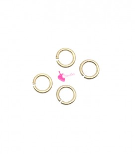Anellini Apribili 5x0,7 mm Acciaio Inox colore Oro Chiaro (100 pezzi)