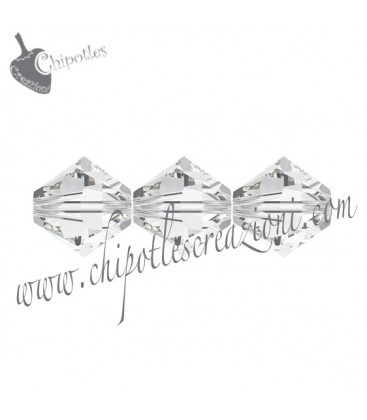 Biconi Swarovski 5328 4 mm 001 Crystal