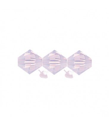 Biconi Swarovski 5328 4 mm 395 Rose Water Opal