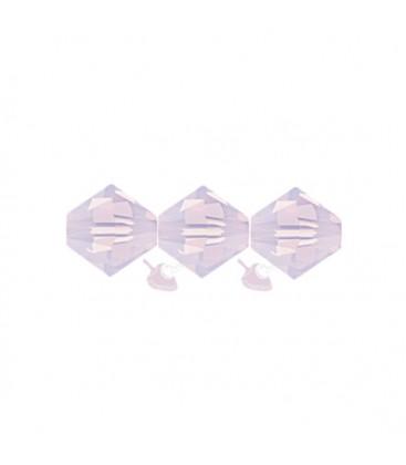 Biconi Swarovski 5328 4 mm 395 Rose Water Opal