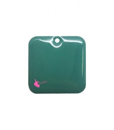 Ciondolo Quadrato Smaltato 22 mm Verde