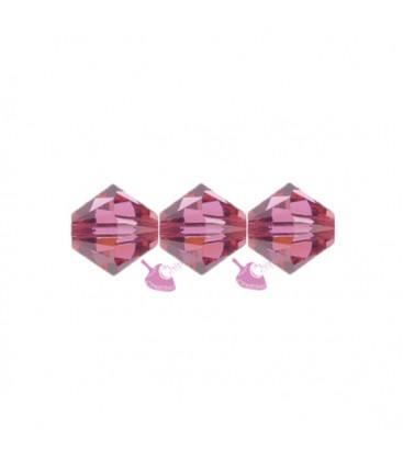 Biconi Swarovski 5328 4 mm 289 Indian Pink