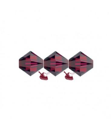 Biconi Swarovski 5328 4 mm 501 Ruby