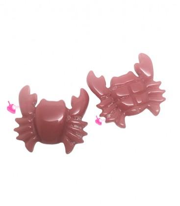 Perla Granchio Resina 27x29 mm color Corallo