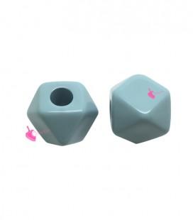 Perla Sfaccettata Resina 16x20 mm (foro 5,8 mm) colore Cielo