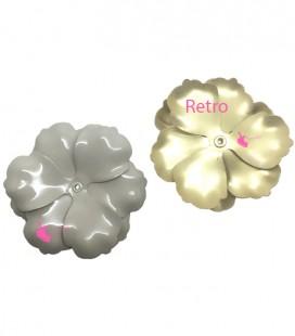 Perni per Orecchini Rettangolo Smaltato 17x13 mm Bianco (1 paio)