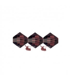 Biconi Swarovski® 5328 4 mm 515 Burgundy (60 pezzi)