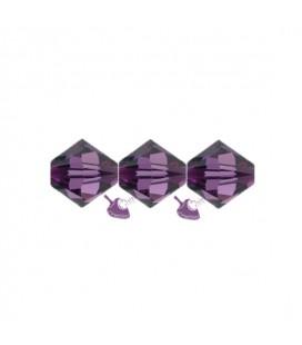 Biconi Swarovski® 5328 4 mm 204 Amethyst (60 pezzi)