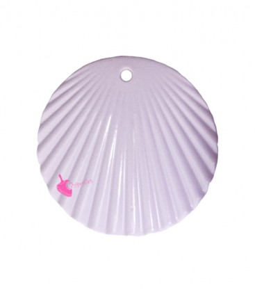 Ciondolo Disco Ondulato 37 mm Lilla